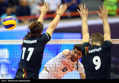 Iran's Volleyball Team Beats Belgium in Tehran