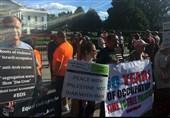 تجمع مقابل کاخ سفید علیه اشغالگری صهیونیسم/ «فلسطین را آزاد کنید» + تصاویر
