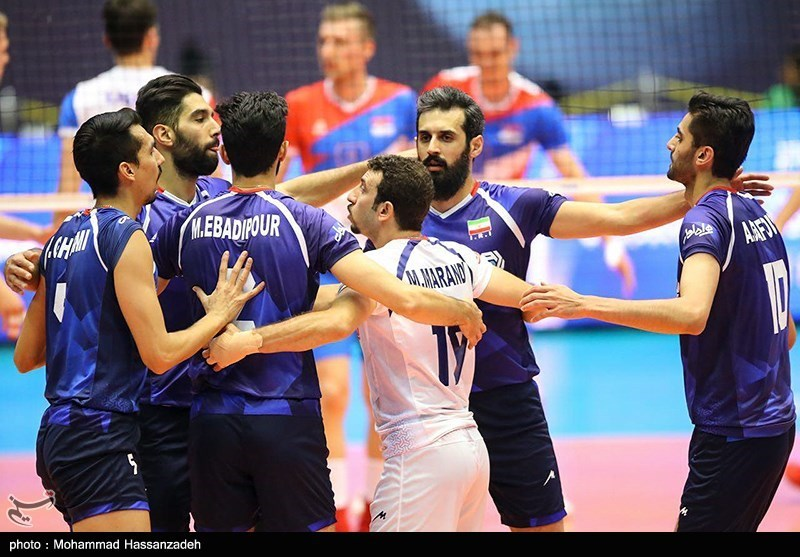 دیدار تیم های والیبال ایران صربستان