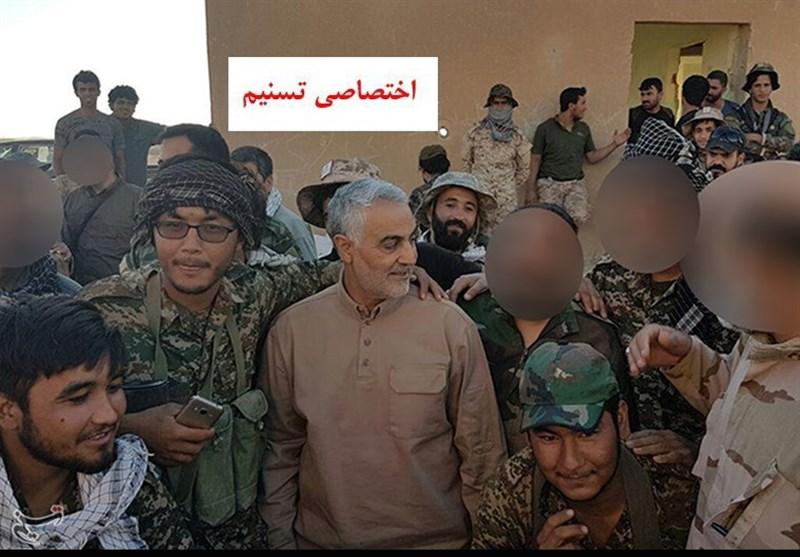 """لواء """"فاطمیون"""" یصل الحدود العراقیة السوریة+ صور"""