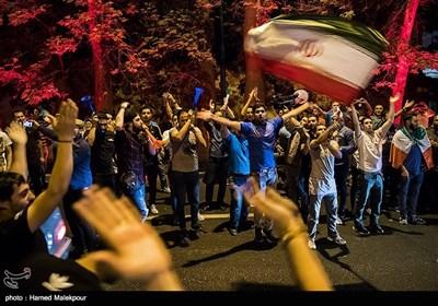 الاحتفالات الشعبیة فی إیران بعد التأهل لکأس العالم