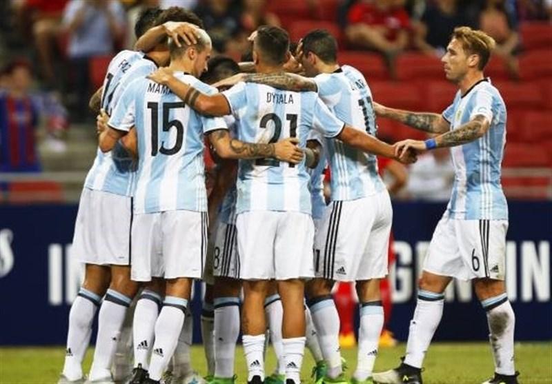 فوتبال جهان| برتری پرگل تیم ملی آرژانتین مقابل عراق در حضور 70 دقیقهای هافبک پرسپولیس