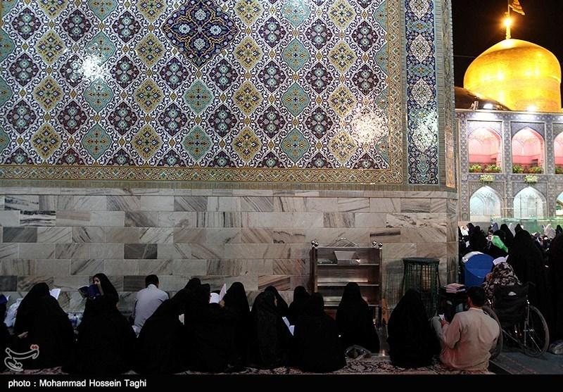 احیا شب نوزدهم رمضان در حرم امام رضا(ع) - مشهد