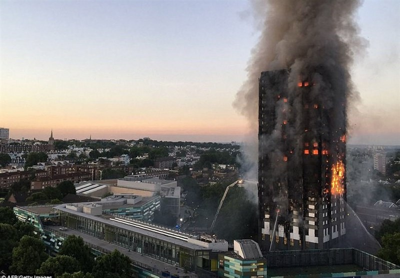تعداد قربانیان آتشسوزی برج لندن همچنان افزایش مییابد