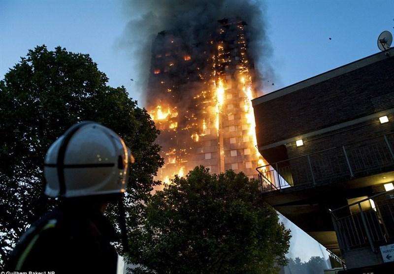 برج لندن آتش