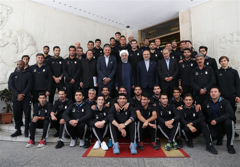 President Lauds Iran National Football Team's World Cup Performance