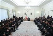 کیروش و اعضای تیم ملی فوتبال به دیدار روحانی رفتند + عکس