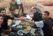سفره افطار مدافعان مردمی «کفریا- فوعه»+تصاویر