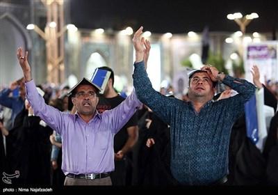 احیای شب بیست وسوم رمضان در حرم امام رضا (ع) - مشهد