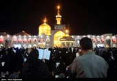 مشهدالرضا(ع) در شب وفات پیامبر(ص) یکپارچه سیاهپوش است