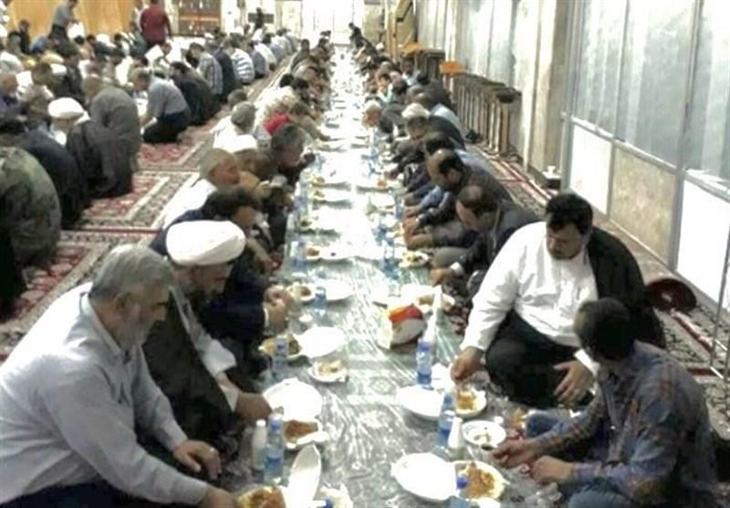 افطاری حرم حضرت زینب(س)