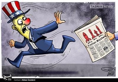 کاریکاتور/ وحشت استکبار از قدرتموشکی ایران