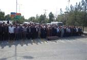 پیکر پدر سردار شهید آتشدست در نهبندان تشییع شد