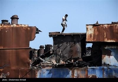 تخریب کشتی پژواک میانکاله