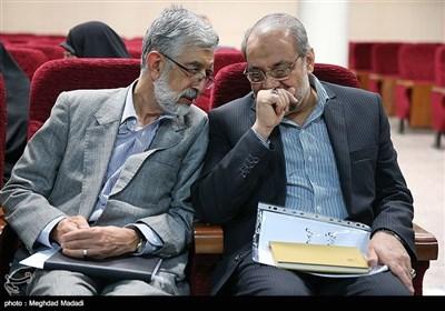 حداد عادل و ذوالقدر در نشست شورای مرکزی جبهه مردمی نیروهای انقلاب اسلامی