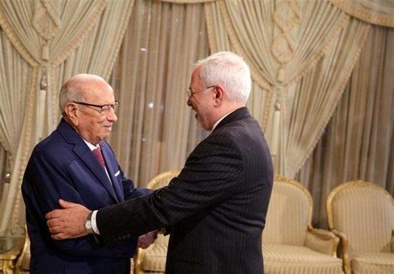ظریف یلتقى الرئیس التونسی
