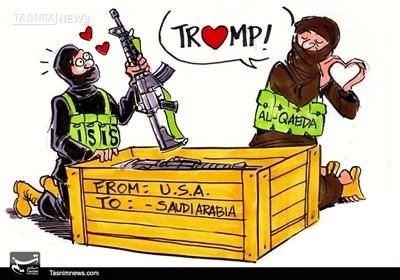 کاریکاتور/ آمریکا و عربستان پدرخوانده داعش