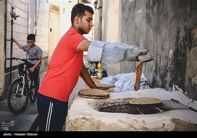 پخت نان سنتی (گرده بوشهری)