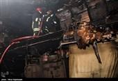 آتش سوزی در کارگاه پرده- مشهد