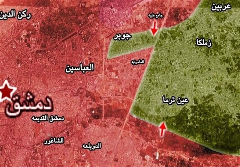 عین ترما اور جوبر میں شامی افواج کی پیش قدمی / دمشق میں داعش کی مارٹر گولوں سے بمباری