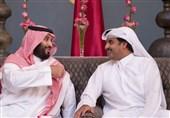 امیر قطر و محمد بن سلمان