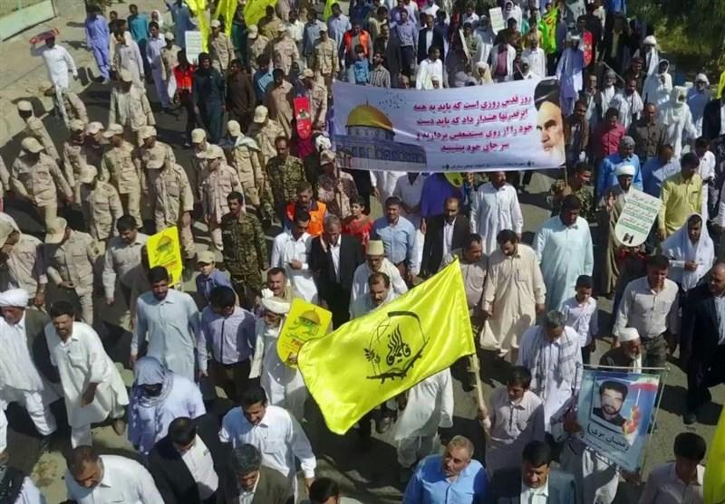 راهپیمایی روز قدس در هیرمند