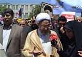حضور دبیرکل مجمع جهانی تقریب مذاهب اسلامی در راهپیمایی روز جهانی قدس اراک