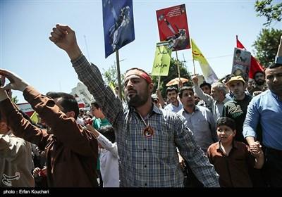 بالصور.. مسیرة یوم القدس العالمی فی طهران
