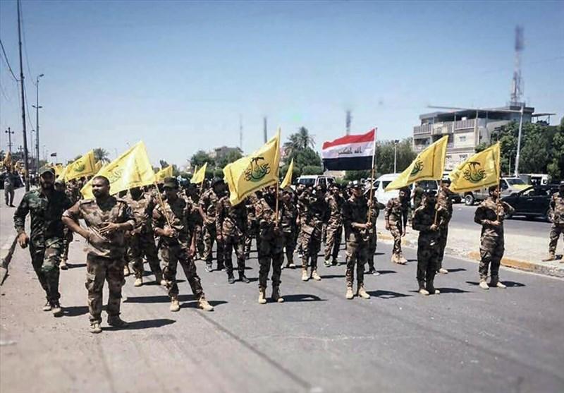 رژه روز قدس رزمندگان نُجَباء در پایتخت عراق