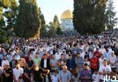 90 هزار فلسطینی نماز عید فطر را در مسجدالاقصی اقامه کردند