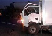 تصادف مرگبار کامیونت با تانکر آب