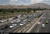 ترافیک سنگین در اتوبان کرج-قزوین