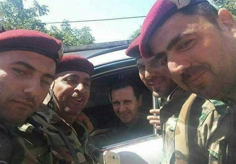 خلال 24 ساعة.. الأسد یجول بسیارته الخاصة فی أربع مدن ویتفقد جرحى الجیش + صور وفیدیو