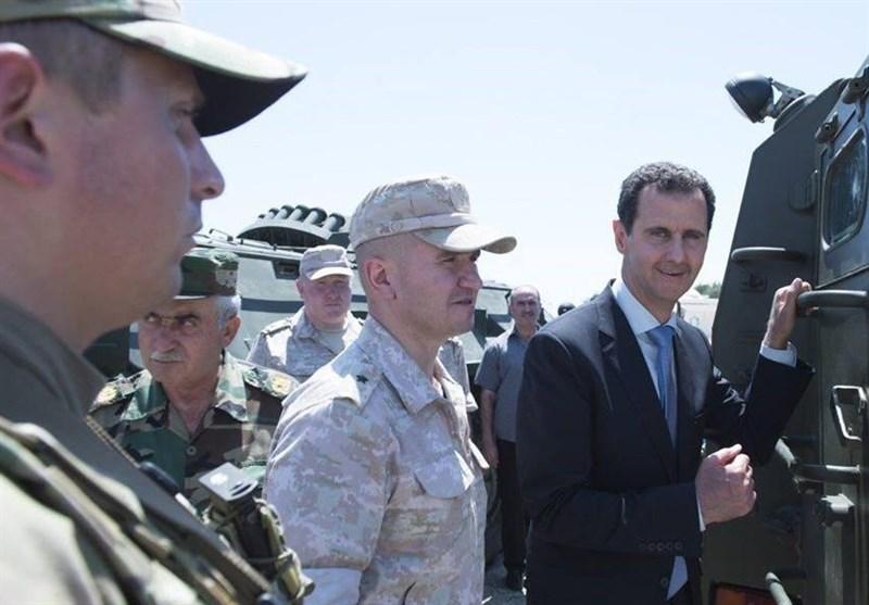 شامی فوج دیر الزور سے 90 کلومیٹر کے فاصلے پر/ اسد کا حمیمیم فوجی اڈے کا دورہ + تصاویر