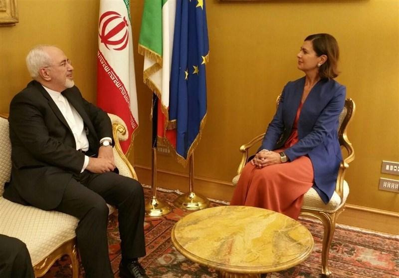 ظریف یلتقی برئیسة البرلمان الإیطالی فی روما