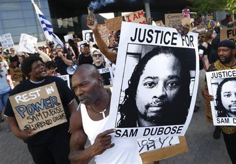 Dozens of Protesters Demand 3rd Trial in Police Shooting