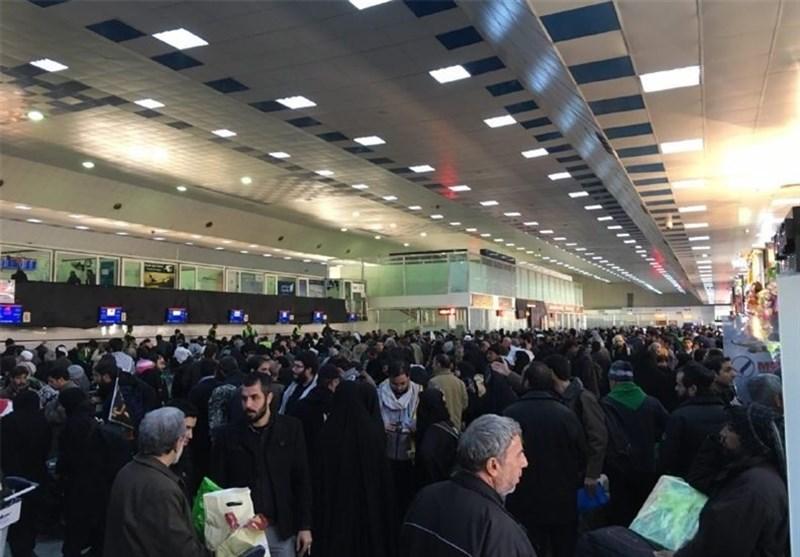 زیادة الرسوم الجمرکیة تعلق الرحلات الجویة الایرانیة الى مطار النجف الاشرف