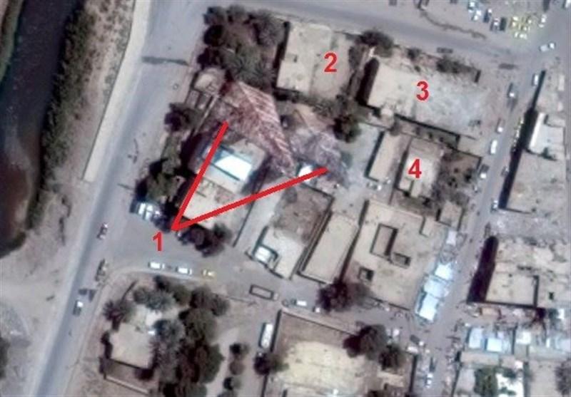 بالصور والخرائط..أدلة تشیر الى اصابة صواریخ حرس الثورة الاسلامیة مقار داعش بدقة