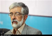 نشست خبری حداد عادل رئیس بنیاد سعدی