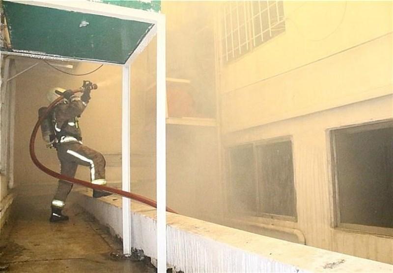آتش سوزی ساختمان در ملاصدرا