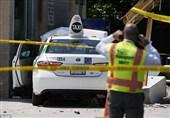 تاکسی، راننده تاکسیها را زیر گرفت+فیلم و عکس