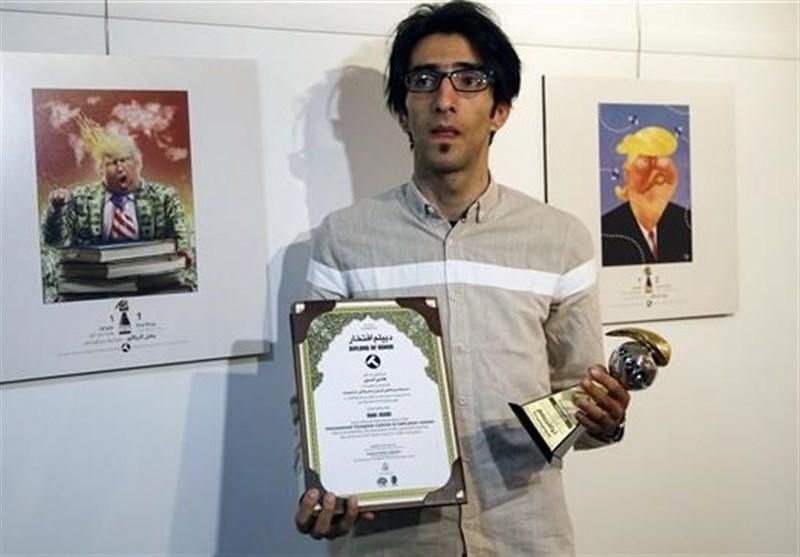 Int'l 'Trumpism' Cartoon Exhibition Underway in Iran