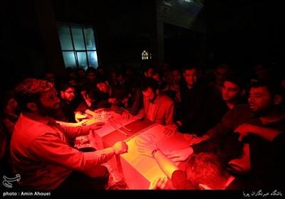 وداع با پیکر شهید مدافع جلال ملک محمدی