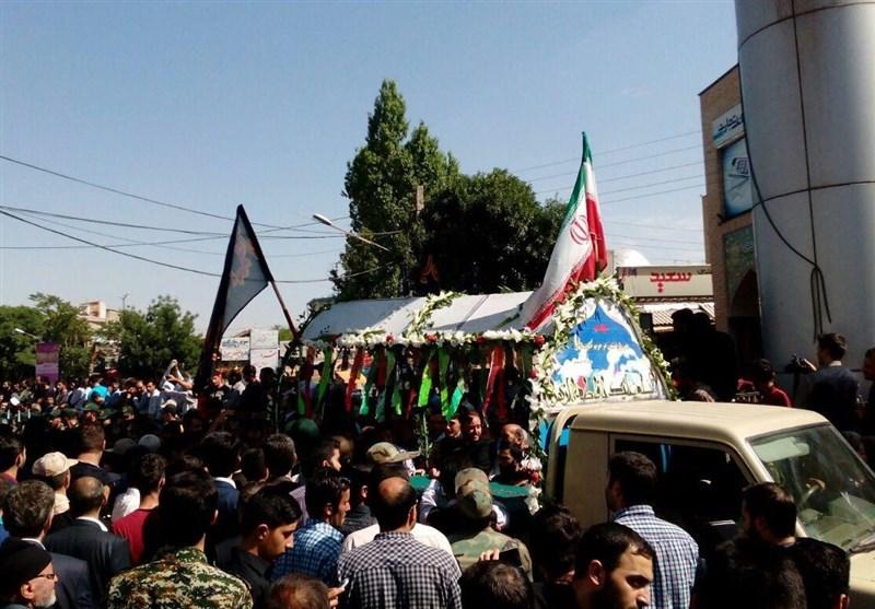 """مراسم تشییع پیکر شهید مدافع حرم """"سیفی"""" برگزار شد"""