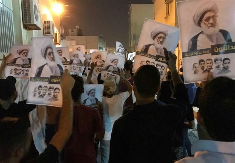 بالصور...تظاهرة حاشدة فی البحرین تؤبن شهداء الفداء فی ذکرى أربعینیتهم