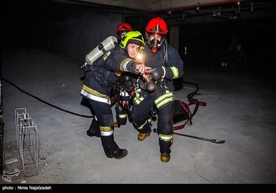 مانور صفر آتش نشانی - مشهد