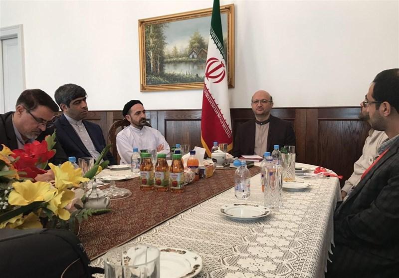دیدار تیم پزشکی شرکت کننده در راهپیمایی صلح با سفیر جمهوری اسلامی ایران