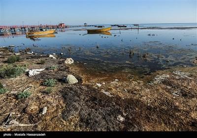 کاهش آب خلیج گرگان و دریای خزر