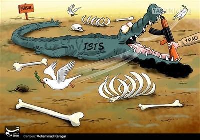 کاریکاتیر.. القوات العراقیة تضع حدا لداعش