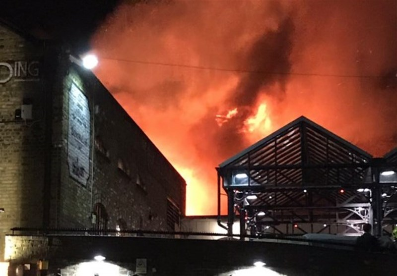 Camden market fire: Dozens of firefighters tackle blaze